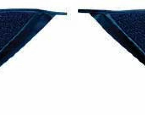OER 1965-68 Mustang Coupe Loop Carpet Kick Panel Inserts - Dark Blue A4070A12