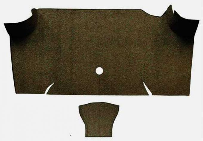 OER 1967-68 Mustang Fastback Loop Carpet Trunk Mat - Dark Saddle A4068A18