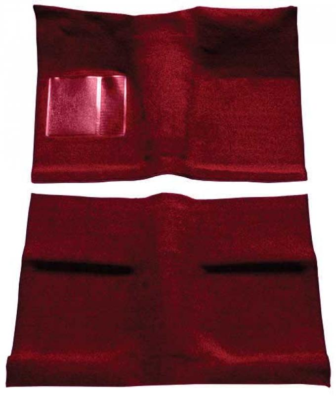 OER 1964 Mustang Coupe Passenger Area Loop Floor Carpet Set - Maroon A4030A15