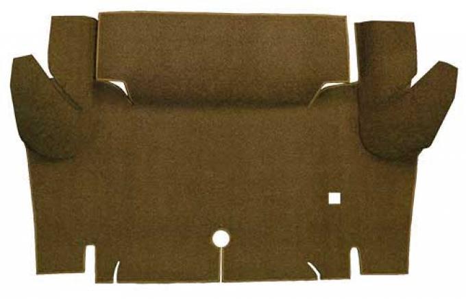 OER 1965-66 Mustang Convertible Loop Carpet Trunk Floor Mat - Dark Saddle A4052A18