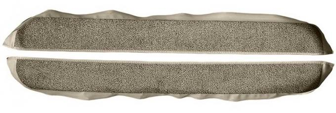 OER 1981-86 Mustang Coupe/Hatchback With Power Locks Door Panel Carpet Inserts - Gray A413027