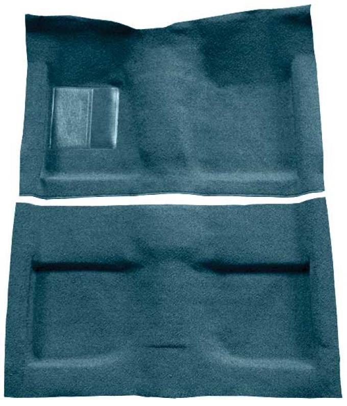OER 1964 Mustang Convertible Passenger Area Loop Floor Carpet Set - Aqua A4032A06