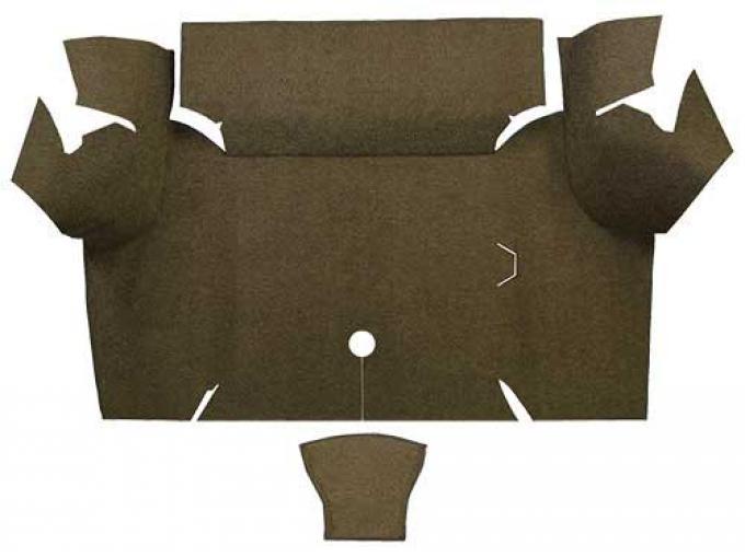 OER 1967-68 Mustang Coupe Loop Carpet Trunk Mat - Dark Saddle A4060A18