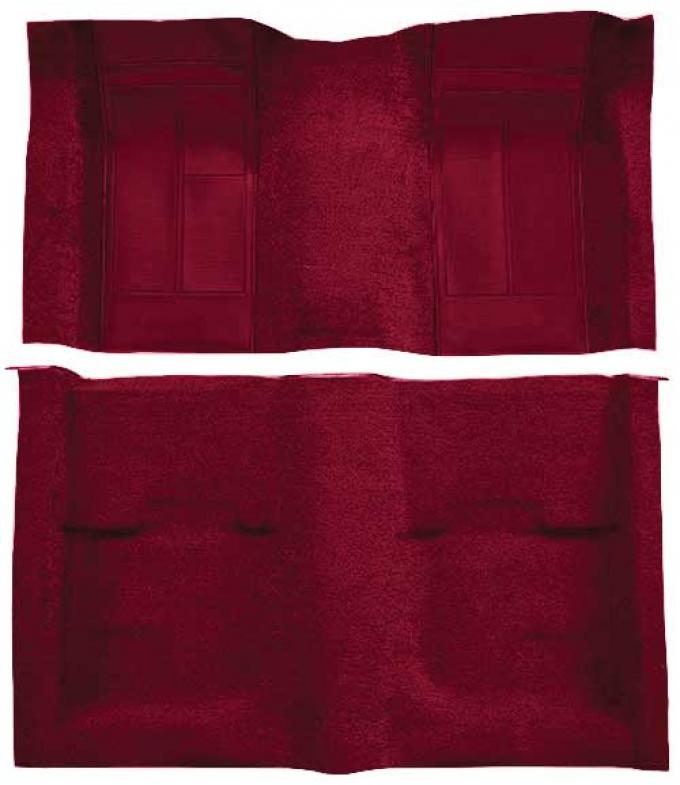 OER 1970 Mustang Mach 1 Passenger Area Nylon Floor Carpet - Maroon with Maroon Inserts A4113A15