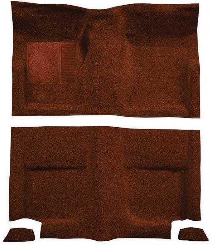 OER 1965-68 Mustang Fastback Passenger Area Nylon Loop Floor Carpet without Fold Downs - Emberglow A4049A49