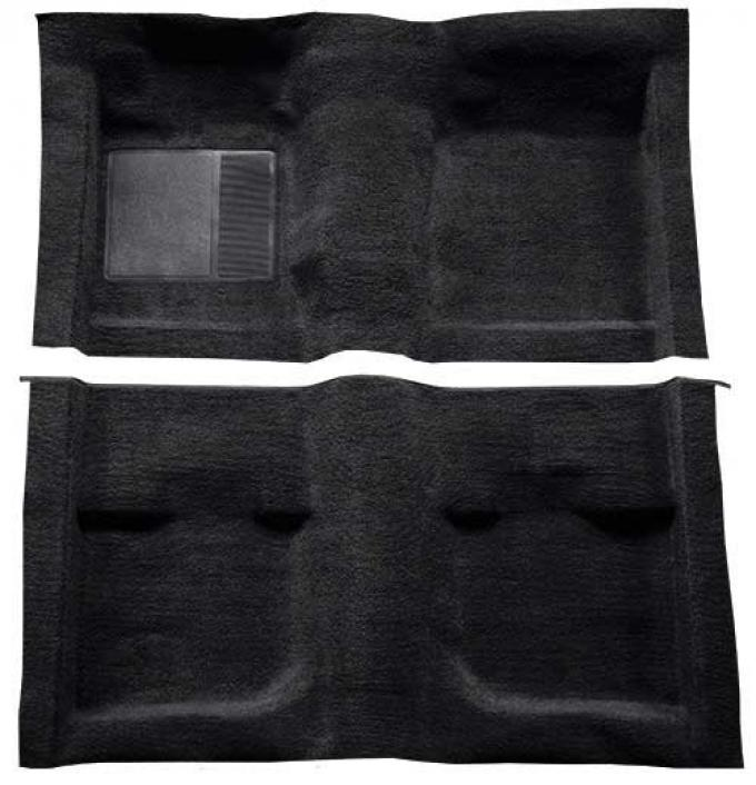 OER 1971-73 Mustang Coupe / Fastback Passenger Area Nylon Loop Carpet with Mass Backing - Black A4057B01