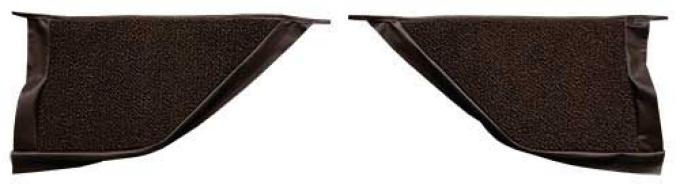 OER 1965-68 Mustang Coupe Loop Carpet Kick Panel Inserts - Dark Brown A4070A30