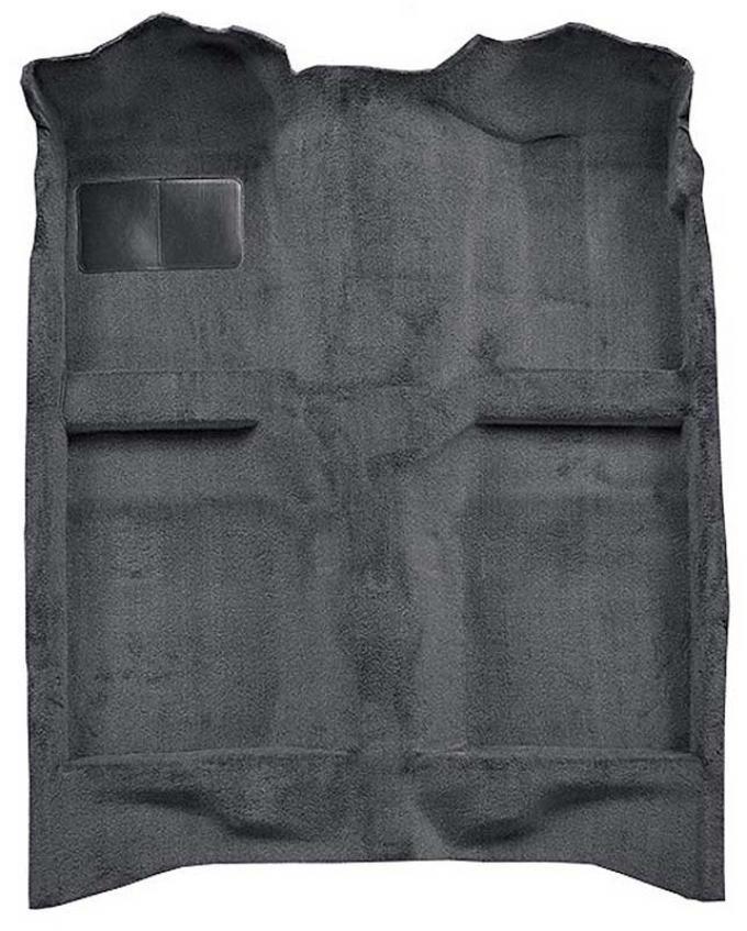 OER 1982-93 Mustang Coupe/Hatchback Passenger Area Cut Pile Carpet with Mass Backing - Gray A4022B27