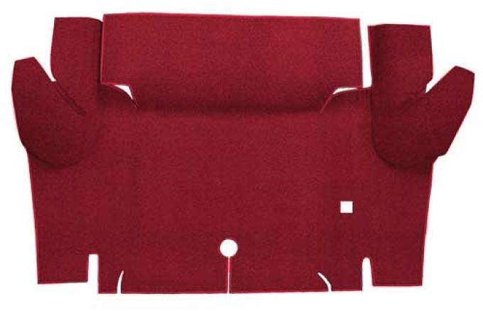OER 1965-66 Mustang Coupe Nylon Loop Carpet Trunk Mat - Maroon A4065A15