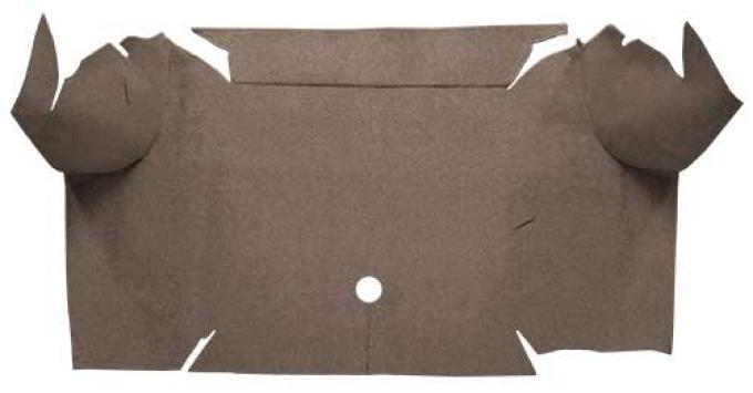 OER 1967-68 Mustang Convertible Loop Carpet Trunk Mat - Parchment A4064A07