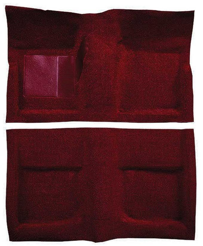 OER 1965-68 Mustang Coupe Passenger Area Nylon Loop Floor Carpet Set with Mass Backing - Maroon A4045B15