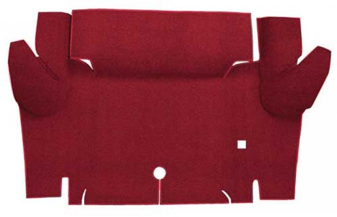 OER 1965-66 Mustang Convertible Nylon Loop Carpet Trunk Mat - Maroon A4069A15