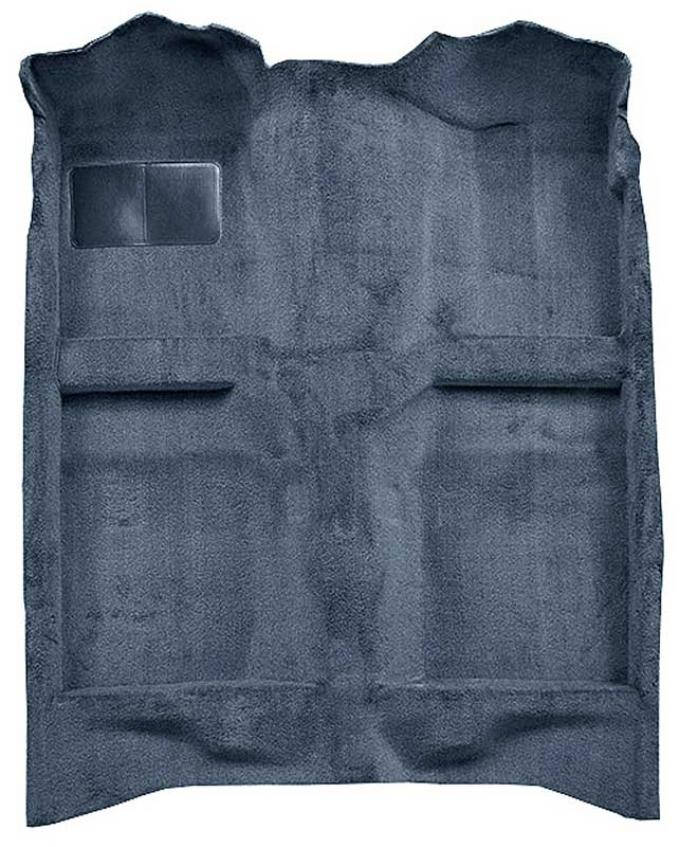 OER 1982-93 Mustang Coupe/Hatchback Passenger Area Cut Pile Carpet with Mass Backing - Crystal Blue A4022B63