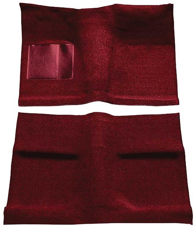 OER 1964 Mustang Coupe Passenger Area Nylon Loop Floor Carpet Set with Mass Backing - Maroon A4031B15