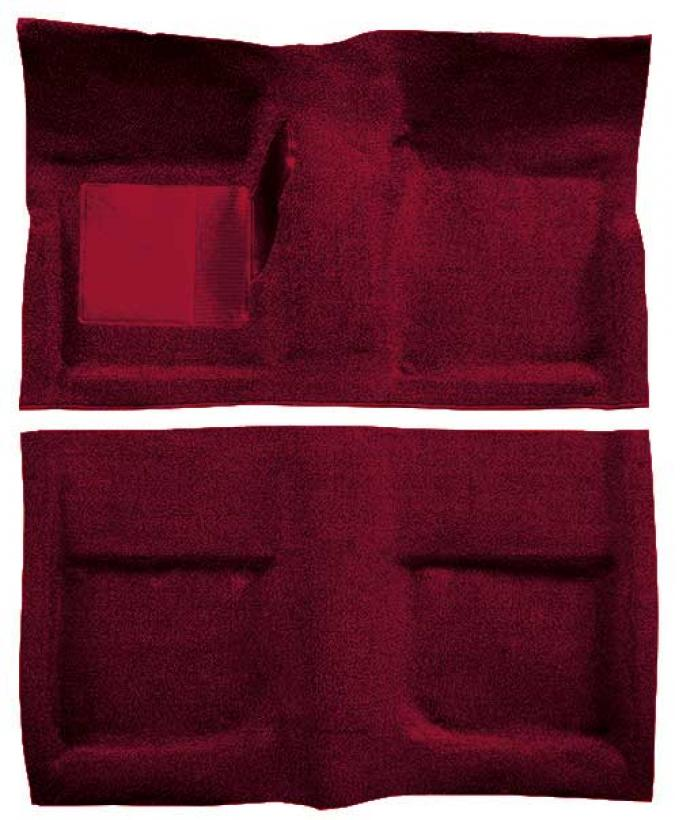 OER 1965-68 Mustang Coupe Loop Floor Carpet With Mass Backing - Maroon A4040B15