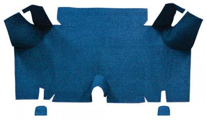OER 1965-66 Mustang Fastback Loop Carpet Trunk Mat - Ford Blue A4056A62