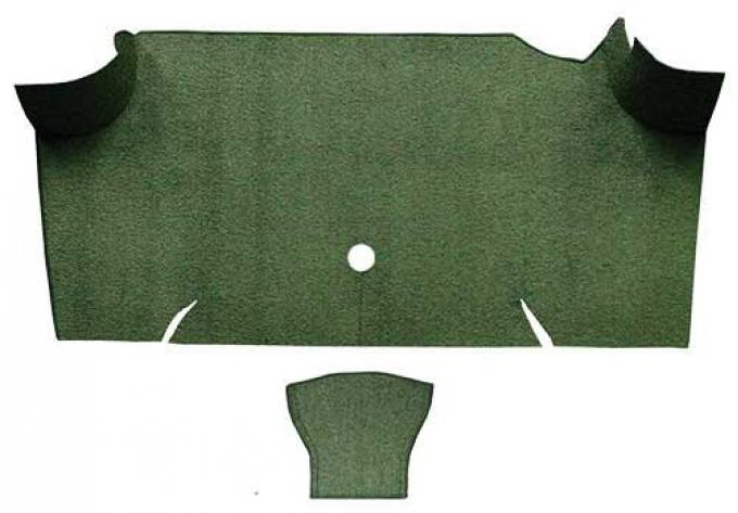 OER 1967-68 Mustang Fastback Loop Carpet Trunk Mat - Moss Green A4068A19