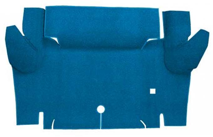 OER 1965-66 Mustang Coupe Nylon Loop Carpet Trunk Mat - Medium Blue A4065A41