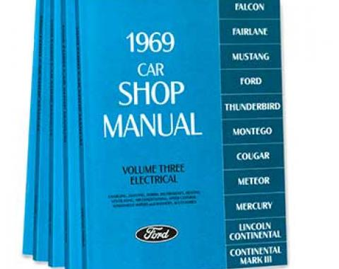 OER 1969 Ford/Lincoln/Mercury Shop Manual Set - Five Volumes L11-CM