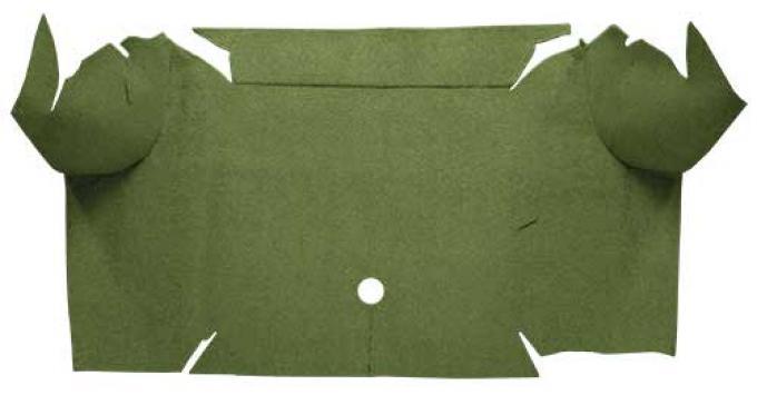 OER 1967-68 Mustang Convertible Loop Carpet Trunk Mat - Moss Green A4064A19