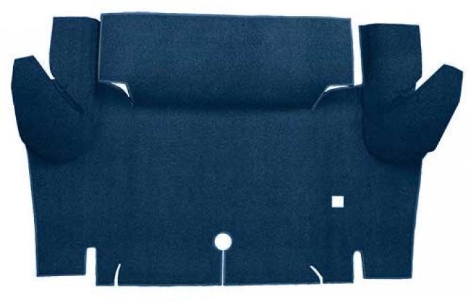 OER 1965-66 Mustang Coupe Loop Trunk Floor Carpet Mat - Dark Blue A4048A12