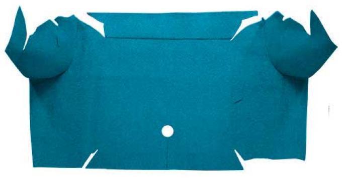 OER 1967-68 Mustang Convertible Nylon Loop Carpet Trunk Mat - Aqua A4081A06
