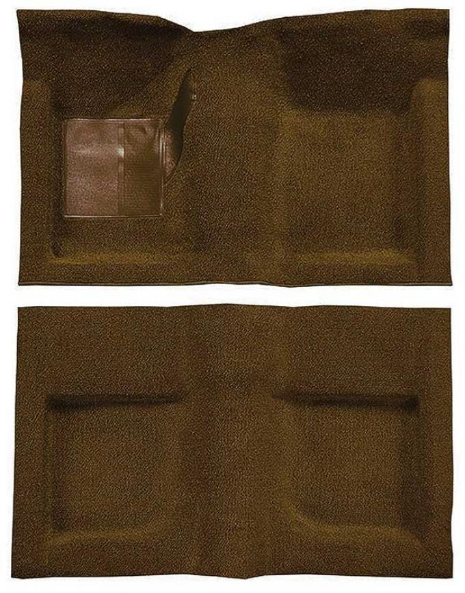 OER 1965-68 Mustang Convertible Passenger Area Nylon Loop Floor Carpet Set - Saddle A4047A24
