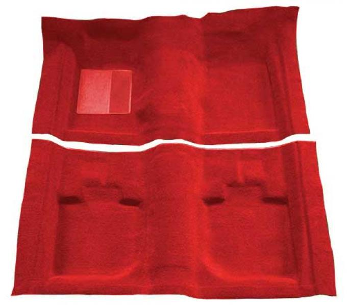 OER 1971-73 Mustang Convertible Passenger Area Nylon Loop Floor Carpet - Medium Red A4059A92