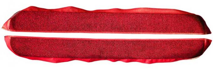 OER 1981-86 Mustang Coupe/Hatchback With Power Locks Door Panel Carpet Inserts - Red A413002