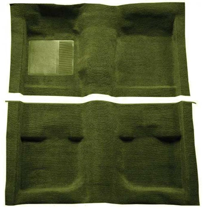 OER 1971-73 Mustang Coupe / Fastback Passenger Area Nylon Loop Floor Carpet - Green A4057A39