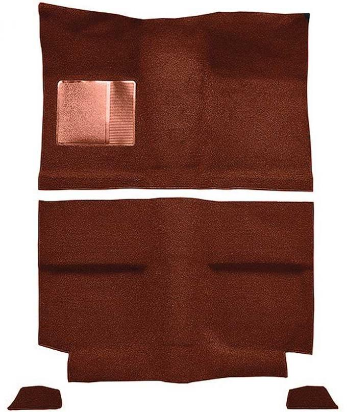 OER 1964 Mustang Fastback without Folddowns Passenger Area Nylon Loop Floor Carpet - Emberglow A4035A49