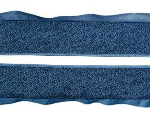 OER 1981-86 Mustang Coupe/Hatchback With Power Locks Door Panel Carpet Inserts - Regatta Blue A413012