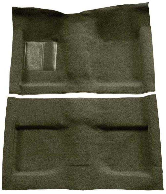 OER 1964 Mustang Convertible Passenger Area Loop Floor Carpet Set with Mass Backing - Moss Green A4032B19