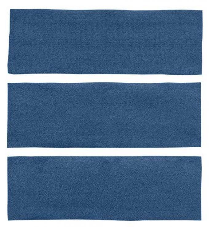OER 1964-68 Mustang Fastback 3 Piece Fold Down Loop Carpet Set - Medium Blue A4038A41