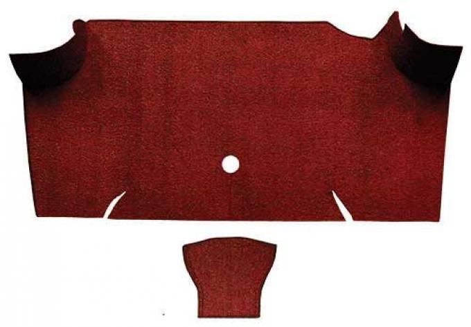 OER 1967-68 Mustang Fastback Loop Carpet Trunk Mat - Emberglow A4068A49