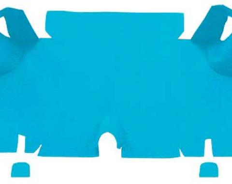 OER 1965-66 Mustang Fastback Nylon Loop Carpet Trunk Mat - Light Blue A4073A31