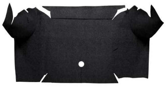 OER 1967-68 Mustang Convertible Loop Carpet Trunk Mat - Black A4064A01