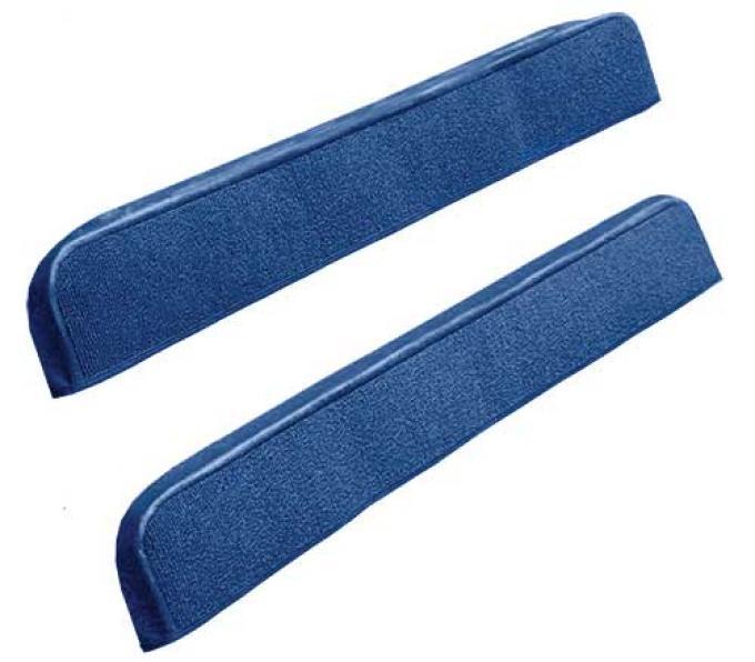 OER 1971-73 Mustang Door Panel Carpet Inserts - Medium Blue A4097A41