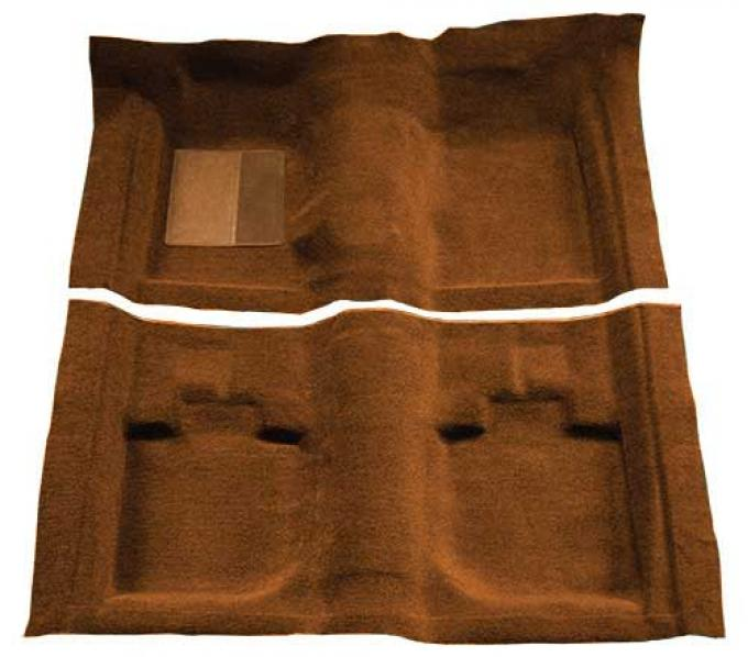 OER 1971-73 Mustang Convertible Passenger Area Nylon Loop Floor Carpet with Mass Backing - Ginger A4059B29