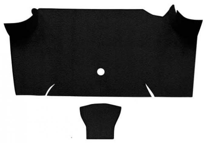 OER 1967-68 Mustang Fastback Nylon Loop Carpet Trunk Mat - Black A4085A01