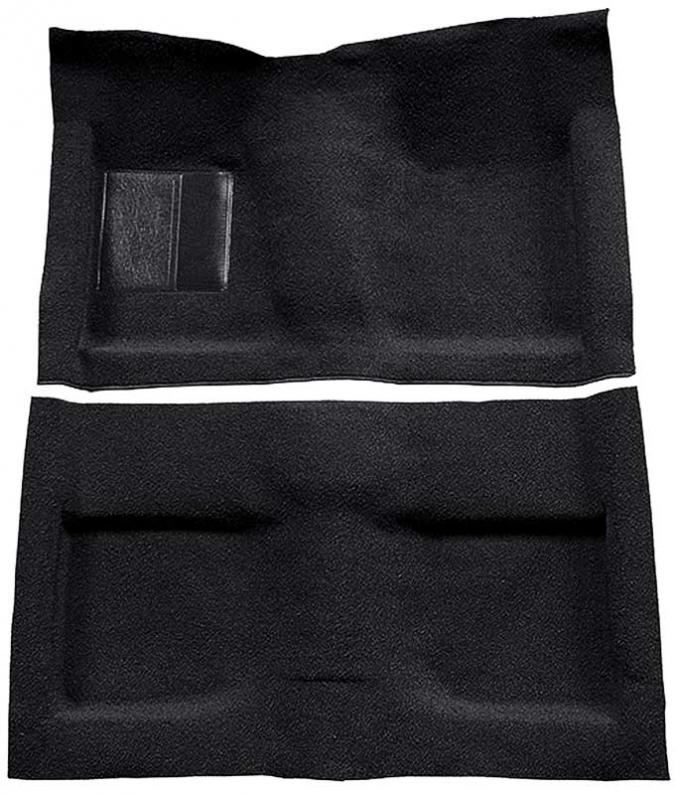 OER 1964 Mustang Convertible Passenger Area Nylon Loop Floor Carpet Set with Mass Backing - Black A4033B01