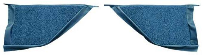 OER 1965-68 Mustang Coupe Loop Carpet Kick Panel Inserts - Medium Blue A4070A41