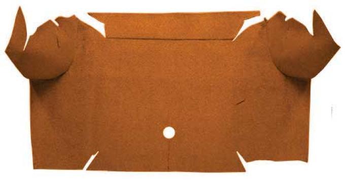 OER 1967-68 Mustang Convertible Nylon Loop Carpet Trunk Mat - Saddle A4081A24