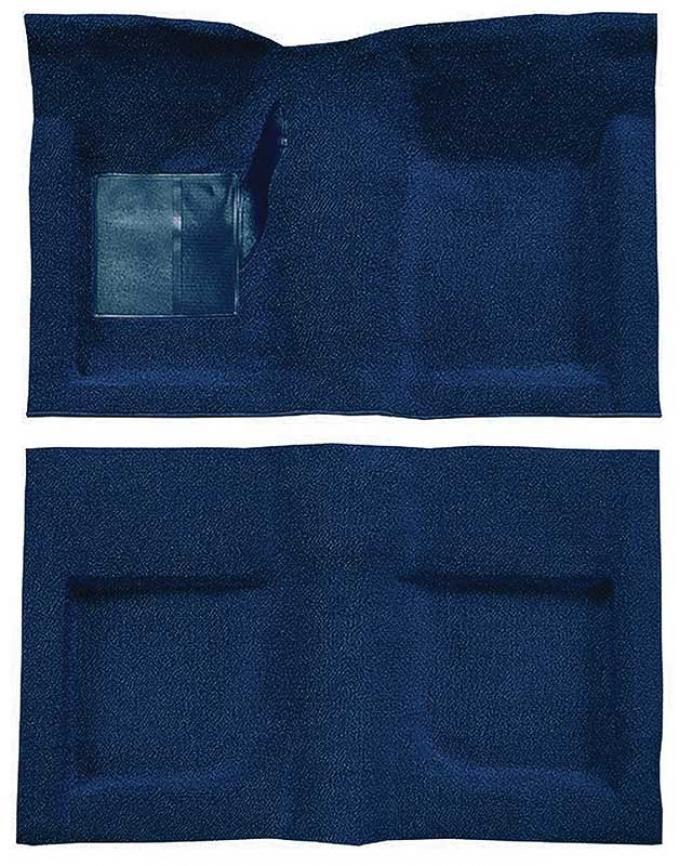 OER 1965-68 Mustang Convertible Passenger Area Nylon Loop Floor Carpet Set - Dark Blue A4047A12
