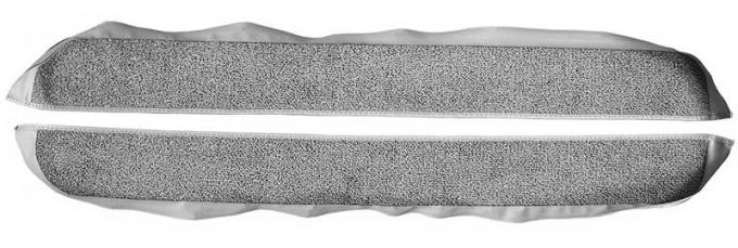 OER 1981-86 Mustang Coupe/Hatchback With Power Locks Door Panel Carpet Inserts - Medium Gray A413025
