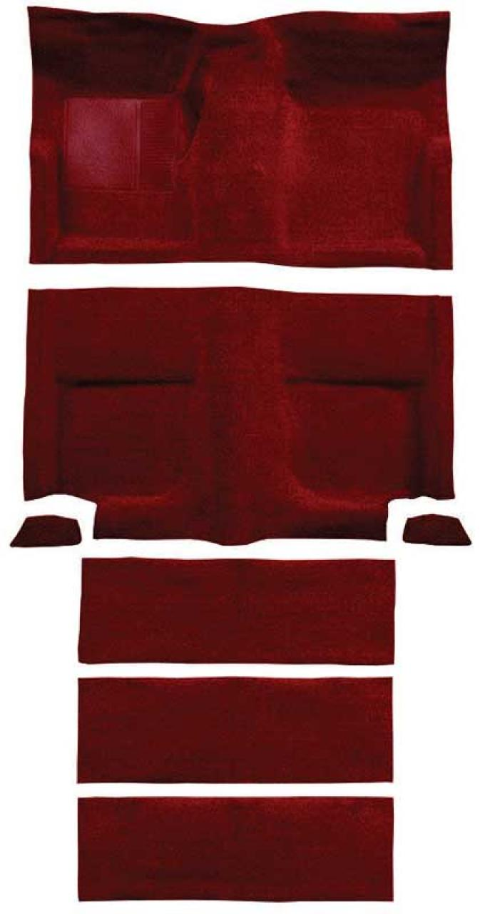 OER 1965-68 Mustang Fastback Passenger Area Loop Carpet with Fold Downs - Emberglow A4102A49