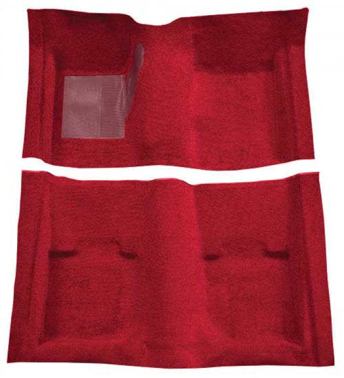 OER 1969-70 Mustang Convertible Passenger Area Nylon Loop Floor Carpet with Mass Backing - Maroon A4053B15