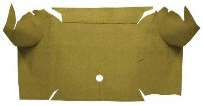 OER 1967-68 Mustang Convertible Loop Carpet Trunk Mat - Ivy Gold A4064A09