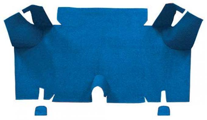 OER 1965-66 Mustang Fastback Nylon Loop Carpet Trunk Mat - Medium Blue A4073A41