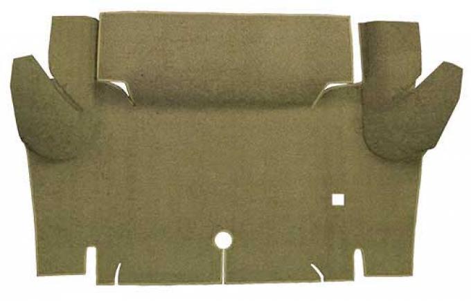 OER 1965-66 Mustang Convertible Loop Carpet Trunk Floor Mat - Ivy Gold A4052A09